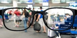 AR Prototype eyeglasses under development